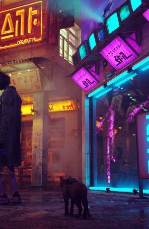 Foto de Gameplay de Stray, juego estilo cyberpunk donde eres un gato
