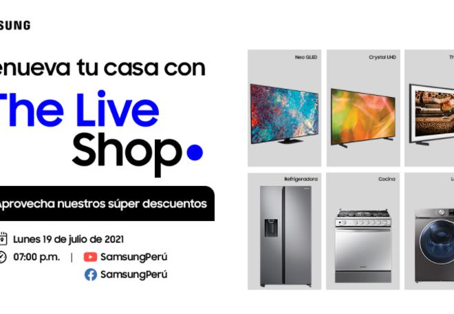 Foto de Samsung: The Live Shop, evento con descuentos en productos de línea blanca y televisores