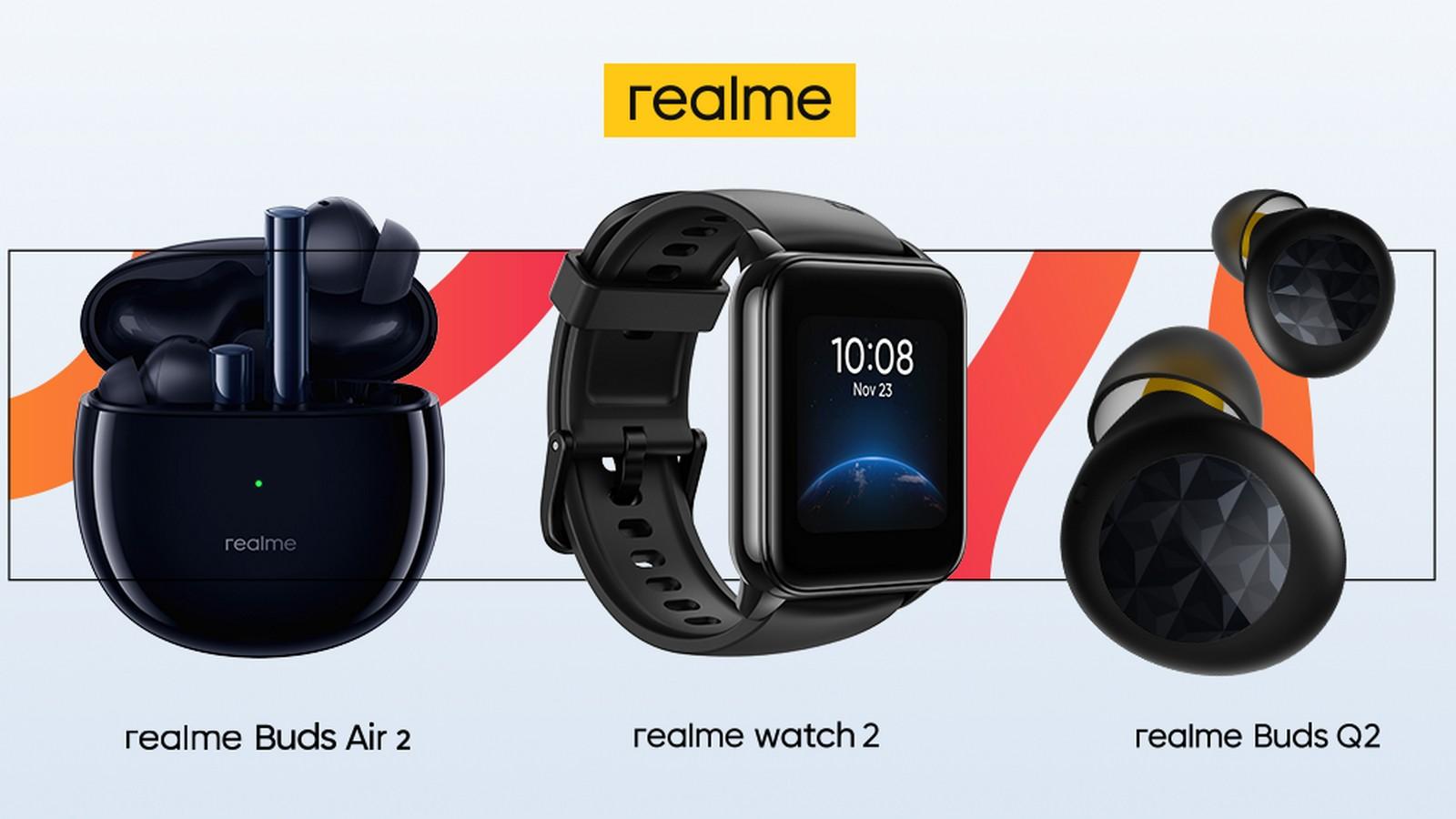Foto de realme presenta sus weareables: Buds Q2, Buds Air 2 y el Watch 2
