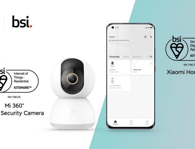 Fotos de Cámara de Seguridad para el Hogar Xiaomi Mi 360 ° y aplicación Xiaomi Home obtienen certificación BSI Kitemark