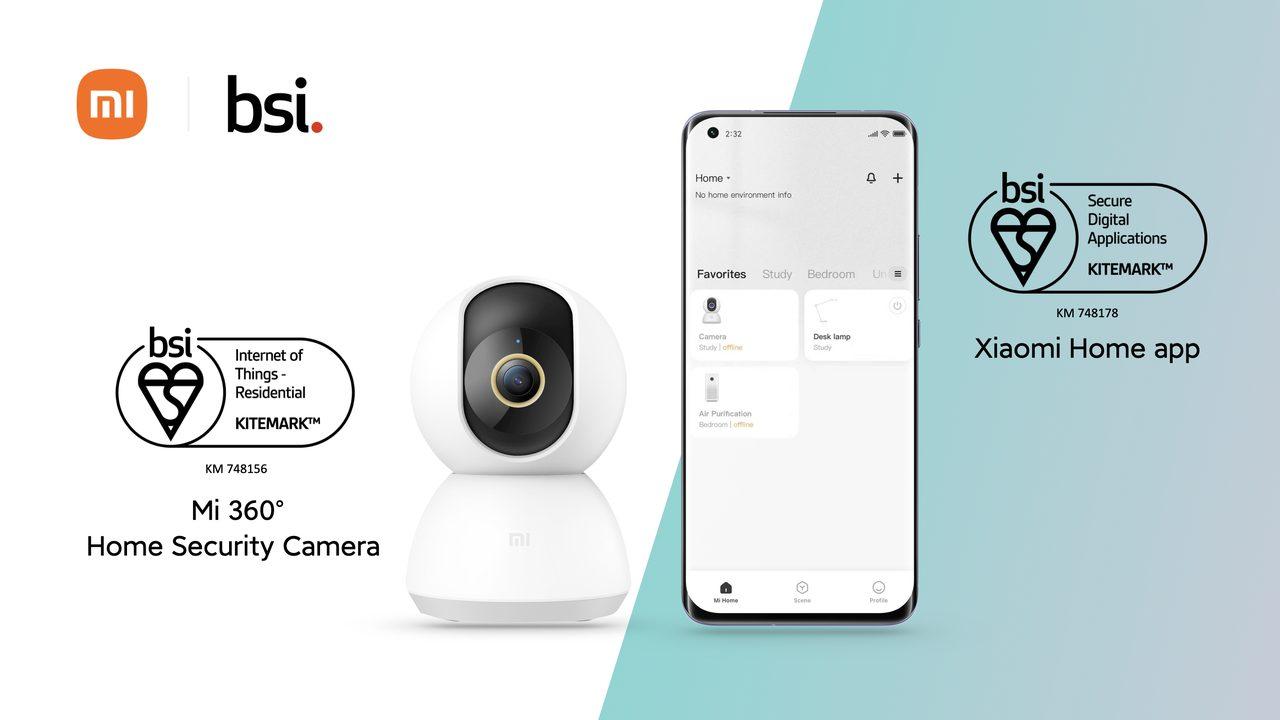 Foto de Cámara de Seguridad para el Hogar Xiaomi Mi 360 ° y aplicación Xiaomi Home obtienen certificación BSI Kitemark