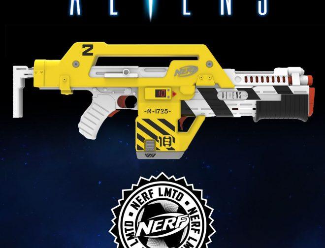 Fotos de Nerf lanza el M41-A Blaster, replica del rifle usado en la película Aliens