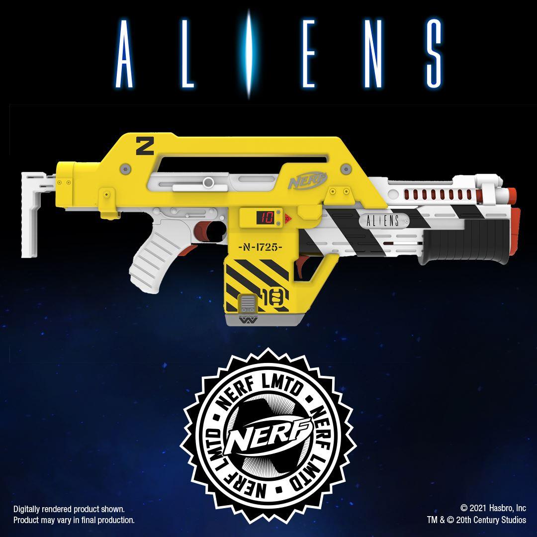 Foto de Nerf lanza el M41-A Blaster, replica del rifle usado en la película Aliens