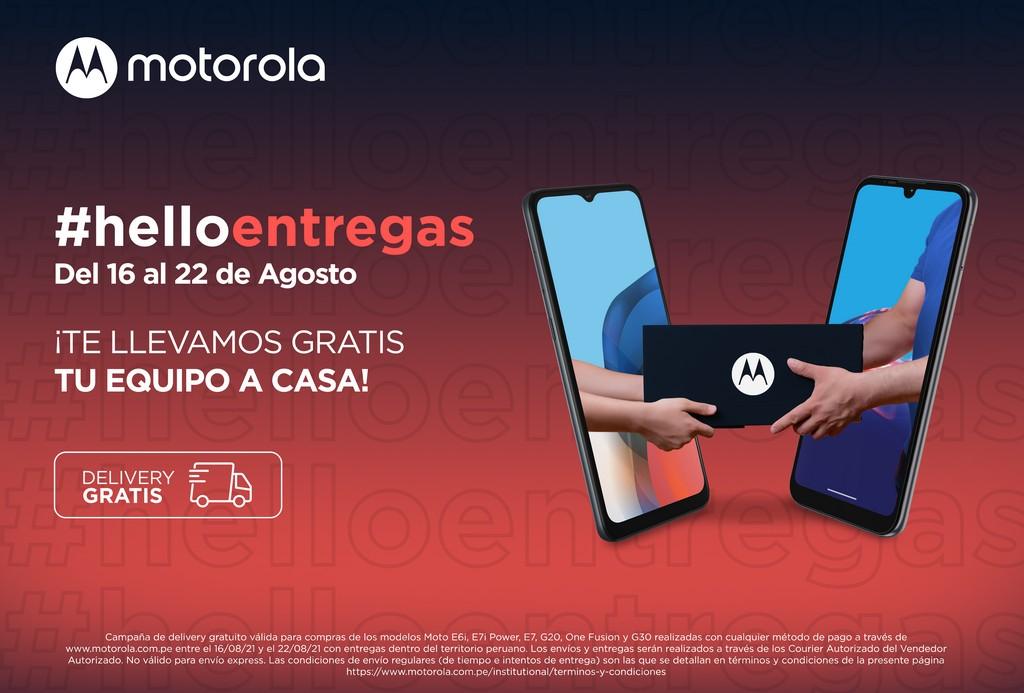Foto de Motorola ofrece delivery gratis por la compra en su tienda online