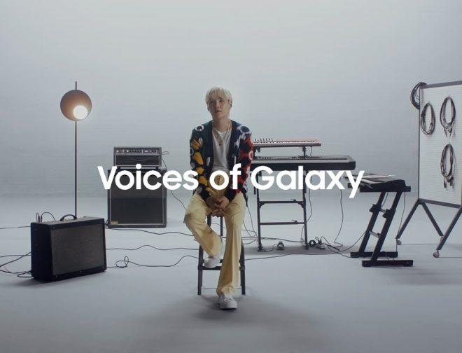 """Fotos de SUGA de BTS reimaginó la canción """"Over the Horizon"""" de Samsung"""