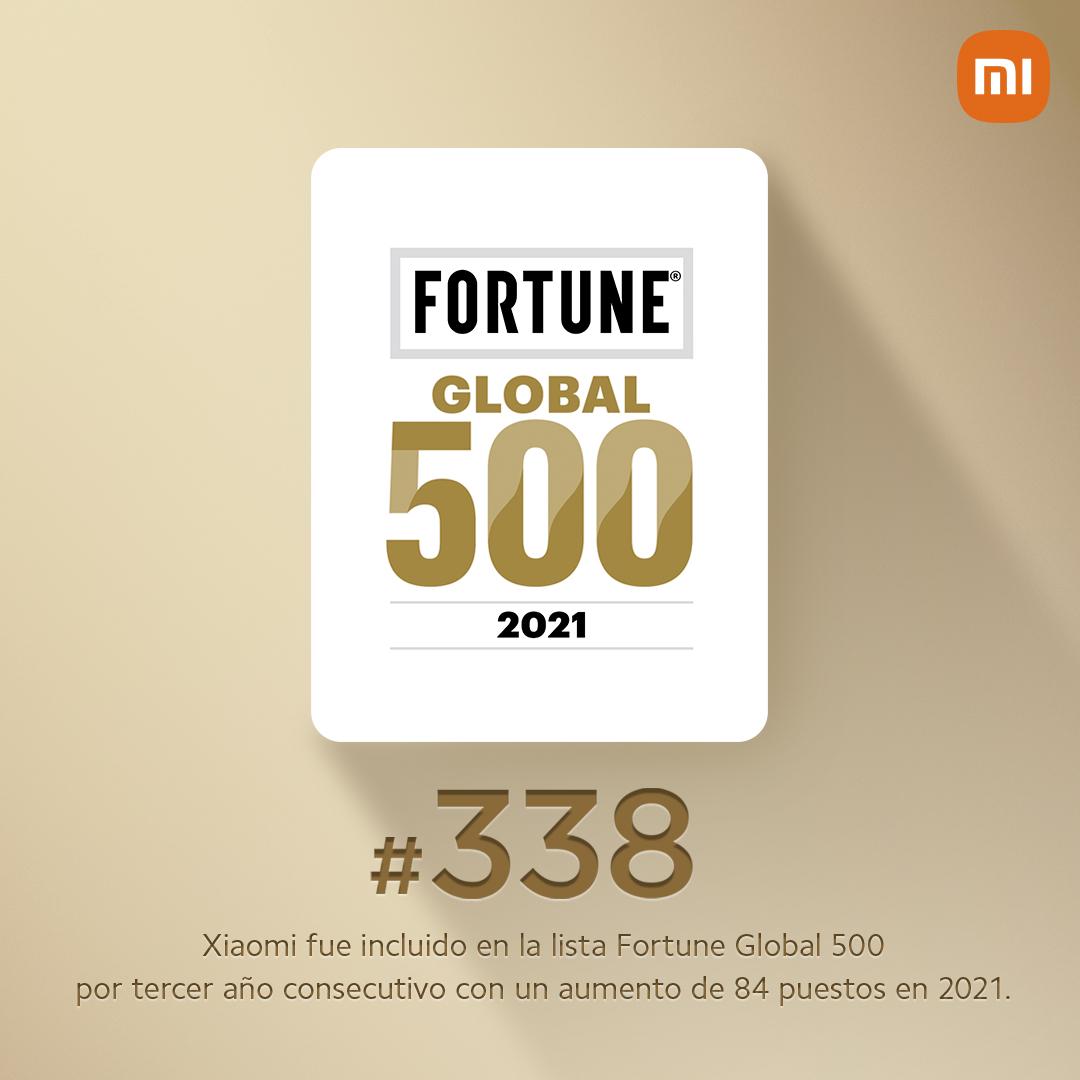 Foto de Xiaomi avanza al puesto 338 en el ranking de Fortune Global 500
