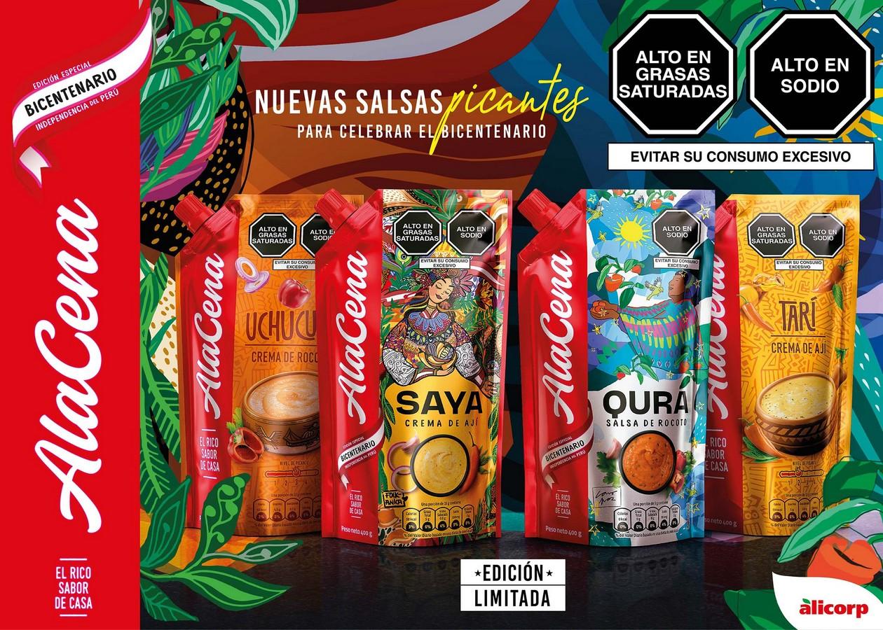 Foto de AlaCena presenta sus nuevas salsas en homenaje al Bicentenario del Perú