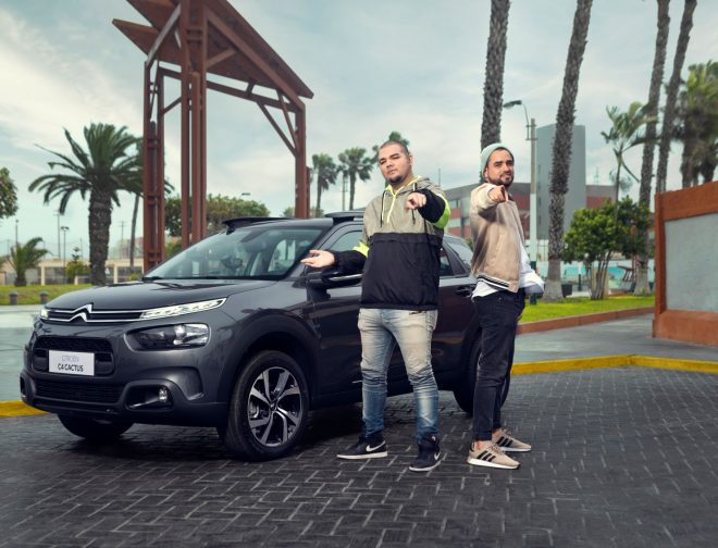 Fotos de Franda, se subió está vez a la C4 Cactus de Citroën en un nuevo CË TALKS