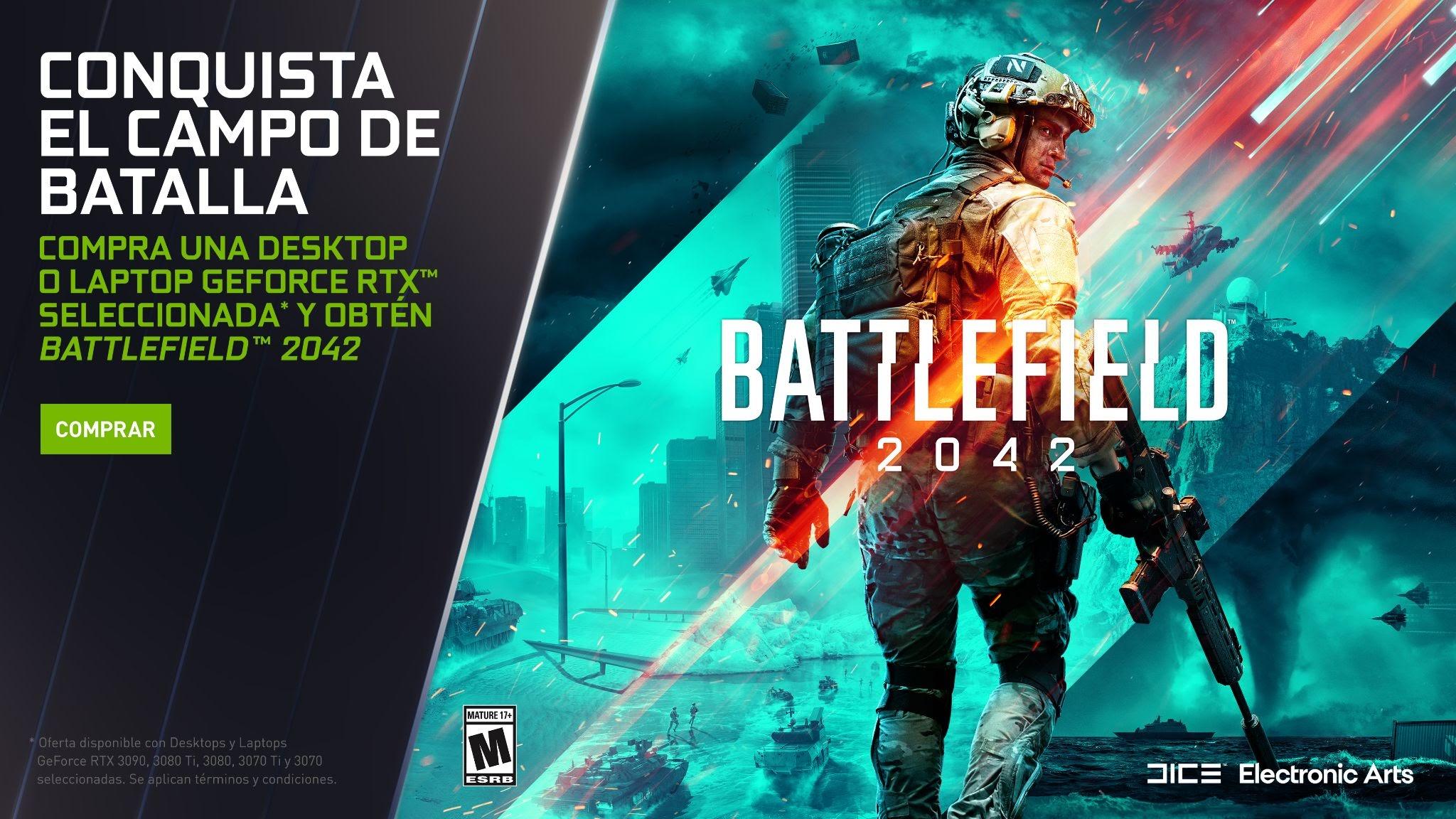 Foto de ¡Obtén Battlefield 2042 con la compra de una desktop o laptop GeForce RTX Serie 30!!