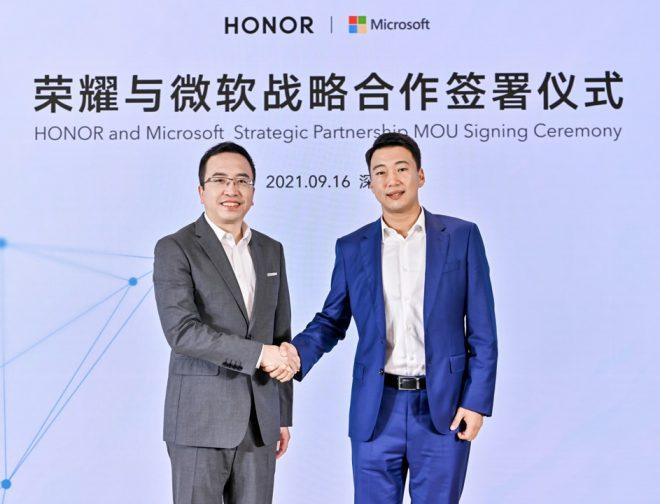 Fotos de HONOR anuncia alianza estratégica con Microsoft para desarrollar soluciones tecnológicas que mejoren las experiencias del consumidor