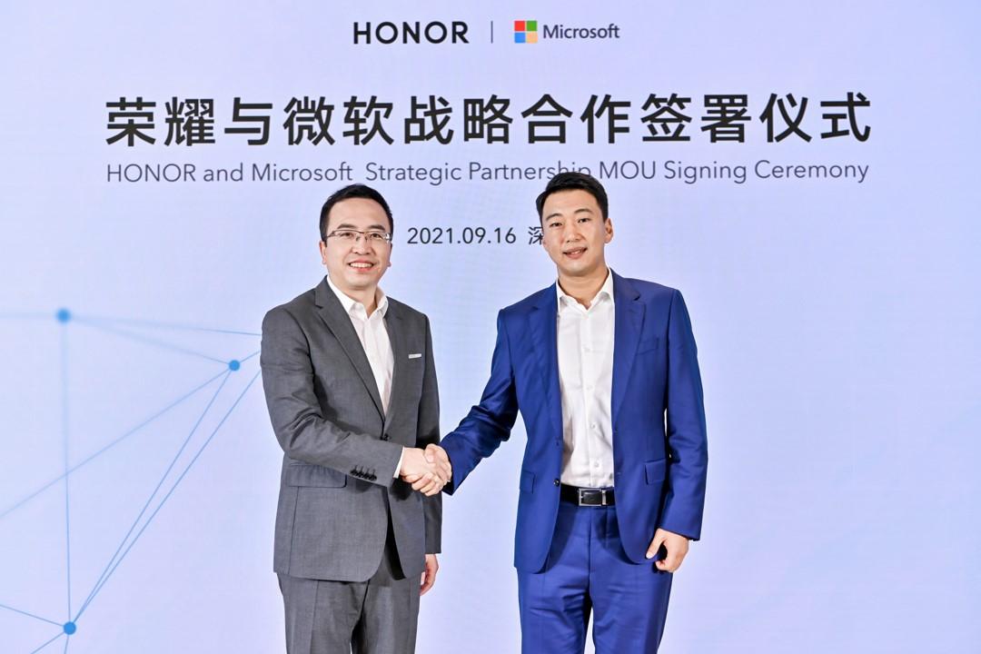 Foto de HONOR anuncia alianza estratégica con Microsoft para desarrollar soluciones tecnológicas que mejoren las experiencias del consumidor