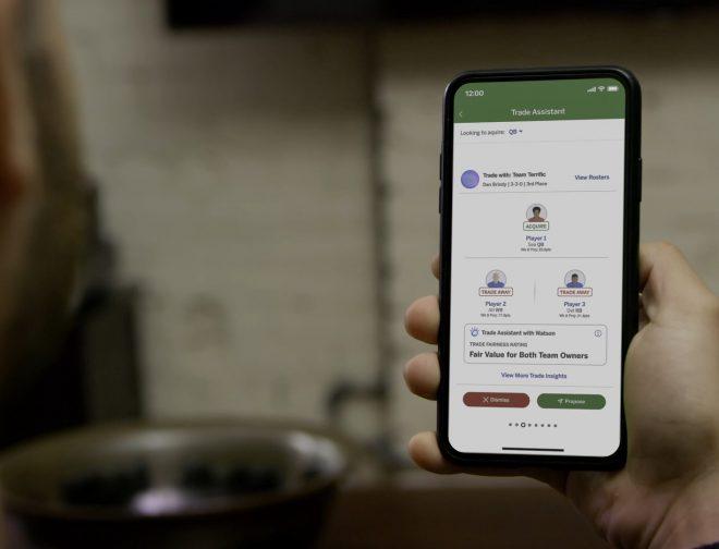 Fotos de IBM crea experiencia personalizada para Fantasy Football con actualizaciones en el Trade Assistant with Watson y Player Insights, en la ESPN Fantasy App