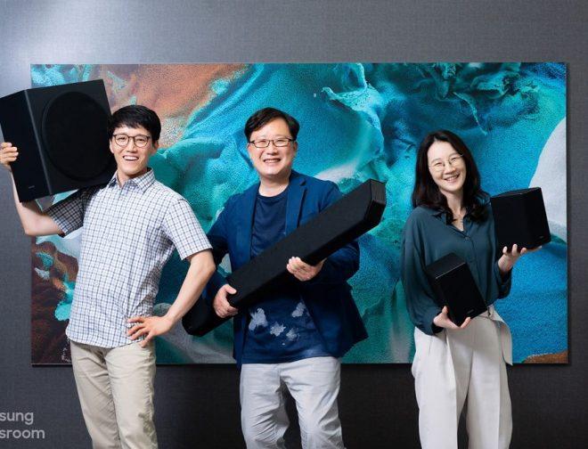 Fotos de 4 secretos detrás del excelente sonido de la potente barra de sonido premium de Samsung