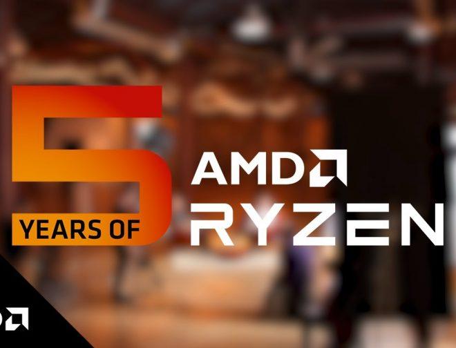 Foto de AMD celebra los 5 años de Ryzen con una mirada hacia el pasado y futuro