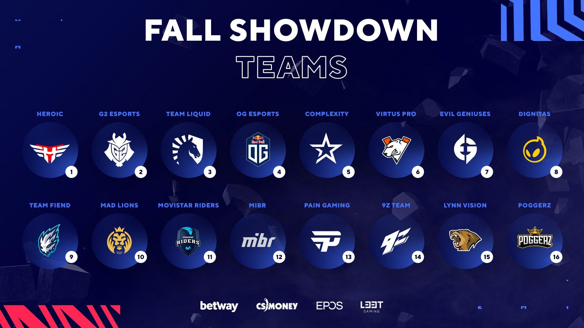 Foto de CSGO: Equipos que jugarán la BLAST Premier: Fall Showdown 2021