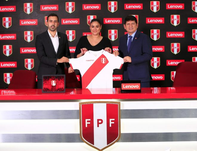 Foto de Federación peruana de fútbol anuncia a Lenovo como nuevo patrocinador de la selección nacional
