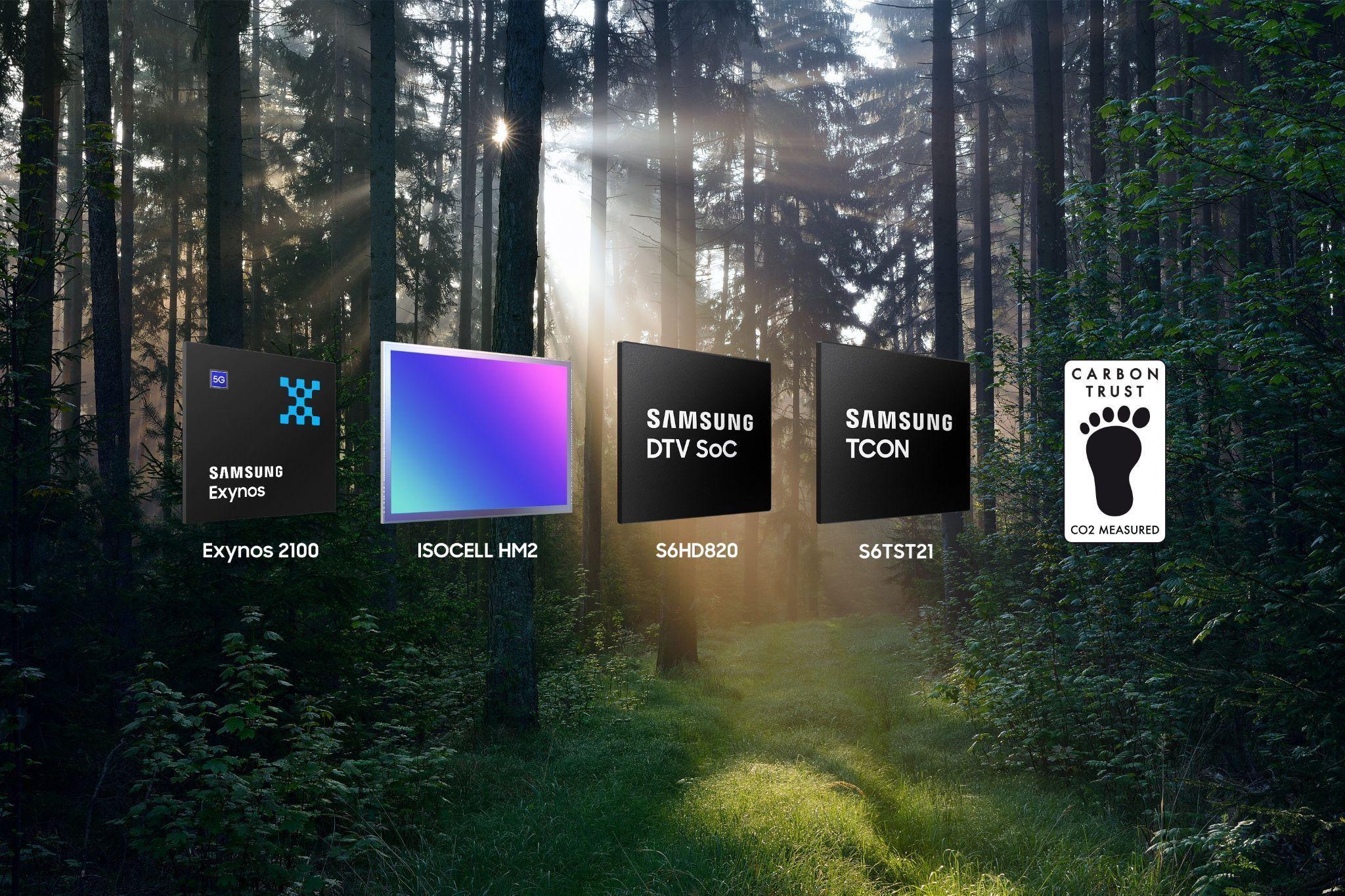 Foto de Samsung recibe su primera certificación global de huella de carbono para chips lógicos
